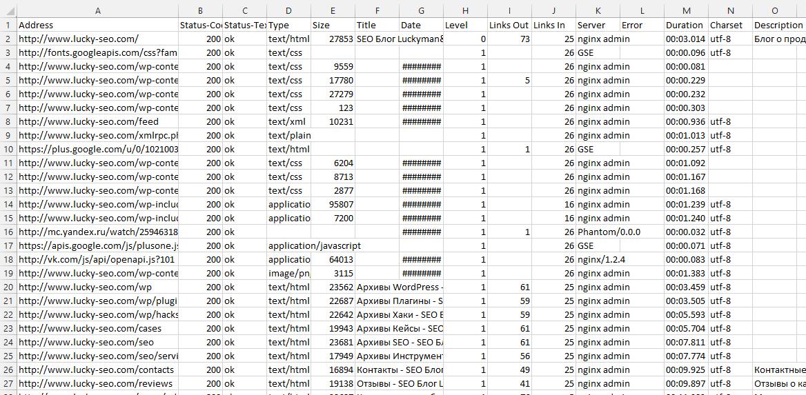 Xenu's Link в Excel